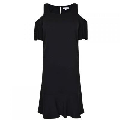 パトリツィア ペペ PATRIZIA PEPE レディース ワンピース ミニ丈 ワンピース・ドレス Mini Ruffle Hem Dress Black