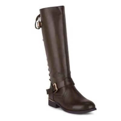 ウォンテッド レディース ブーツ&レインブーツ シューズ Women's Lounge Lace-Back Riding Boots Khaki