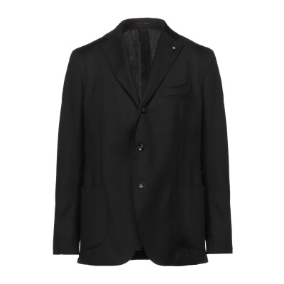 ラルディーニ LARDINI テーラードジャケット ブラック 50 ウール 100% テーラードジャケット