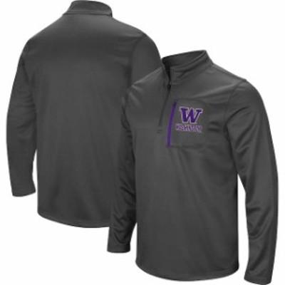 Stadium Athletic スタジアム アスレティック スポーツ用品  Colosseum Washington Huskies Charcoal Fleece Quarter-Zip Pullover Jacke