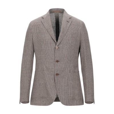 カルーゾ CARUSO テーラードジャケット ブラウン 48 リネン 100% テーラードジャケット