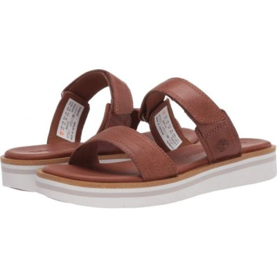 ティンバーランド Timberland レディース サンダル・ミュール シューズ・靴 Adley Shore 2-Band Slide Medium Brown Full Grain Leather
