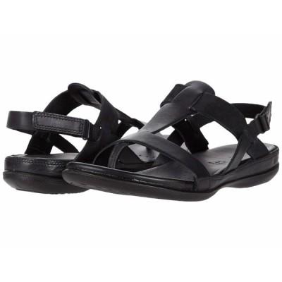 エコー サンダル シューズ レディース Flash T-Strap Sandal Black/Black Cow Leather/Cow Nubuck