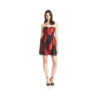 Jessica Simpson レディース Strapless フィット and Flare ドレス with Illusion Ne(海外取寄せ品)