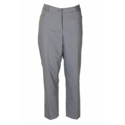 Anne Klein アンクライン ファッション パンツ Anne Klein Grey Howard Hawk Straight-Leg Pants 14