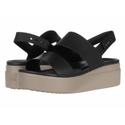 crocs クロックス レディース 女性用 シューズ 靴 サンダル Brooklyn Low Wedge Black/Mushroom【送料無料】