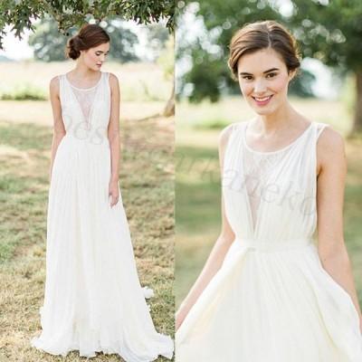 花嫁 ロングドレス ウエディングドレス 二次会 カラードレス エンパイア プリンセスドレス 結婚式 演奏会 イブニングドレス 大きいサイズ XS-XXXL 白 安い