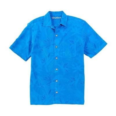 カリビアン メンズ シャツ トップス Jacquard Short-Sleeve Woven Shirt