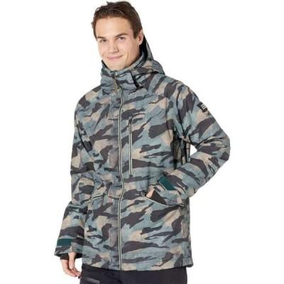 オニール O'Neill メンズ スキー・スノーボード ジャケット アウター Diabese Jacket Green All Over Print/Black
