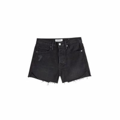 フレームデニム ショートパンツ Le Cutoff Tulip Denim Shorts black