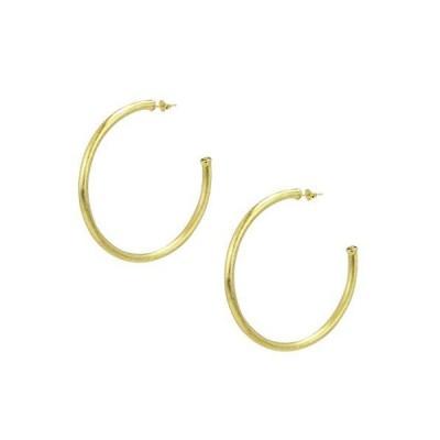 Sheila Fajl Everybody's Favorite 2.5 inch Tubular Hoop Earrings in Brush Gold Plated【並行輸入品】