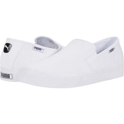 プーマ PUMA メンズ スリッポン・フラット シューズ・靴 Bari Slip-On Puma White/Puma Black/Gray Violet