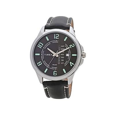 Timex アナログブラックダイヤル メンズ腕時計 -TWEG16502