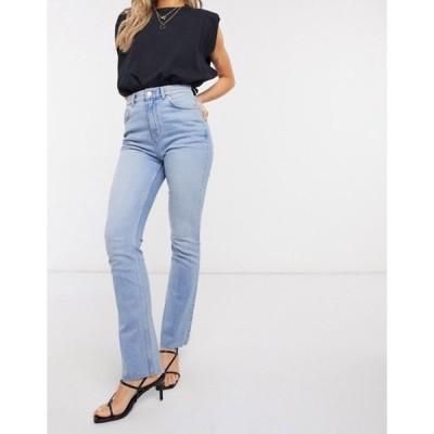 エイソス レディース デニムパンツ ボトムス ASOS DESIGN high rise '70s stretch flare jeans in lightwash