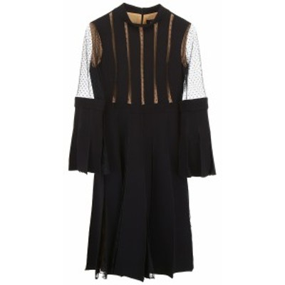 CAPUCCI/カプッチ ドレス BLACK Capucci plisse dress with lace レディース 春夏2018 I18DR274 VS0002 ik