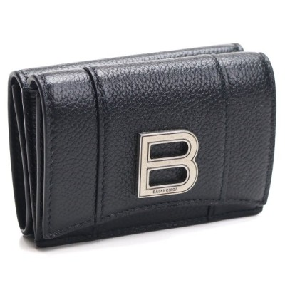 バレンシアガ BALENCIAGA 3つ折り財布 コンパクトサイフ 600212 1IZHY 1000 ブラック レディース
