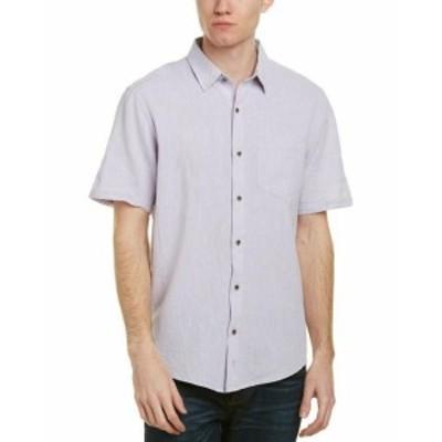 ファッション ドレス Ike Behar Ike By Linen-Blend Woven Shirt S Purple