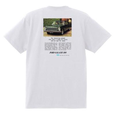 アドバタイジング フォード 778 白 Tシャツ 黒地へ変更可 1965 サンダーバード ギャラクシー ファルコン フェアレーン マスタング ブロンコ f100