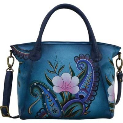 アンナバイアナシュカ レディース ハンドバッグ バッグ Hand Painted Slouch Tote Bag 8293 Denim Paisley Floral