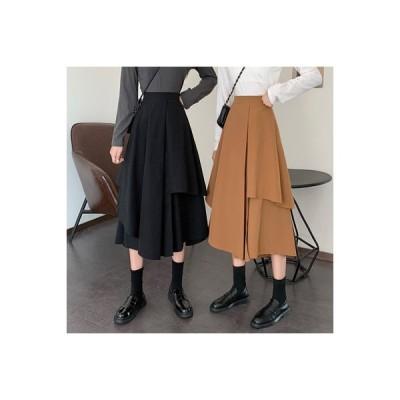 【送料無料】スカート レディース 秋 年 ファッション 気質黒 不規則なスカート 息子   346770_A63677-2378616