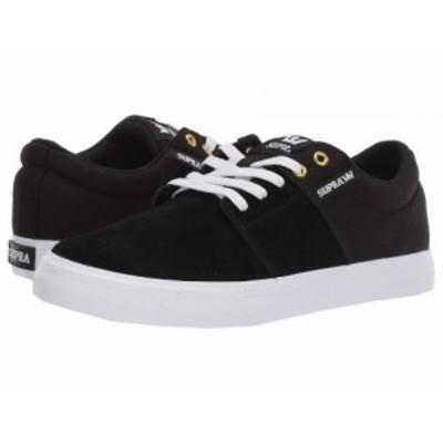 Supra スープラ メンズ 男性用 シューズ 靴 スニーカー 運動靴 Stacks Vulc II Black/Black/White 1【送料無料】