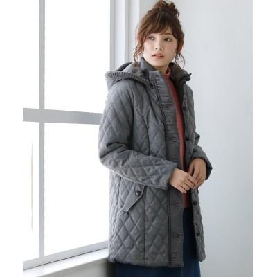 中綿キルトシャンブレーコート (コート)(レディース)Coat