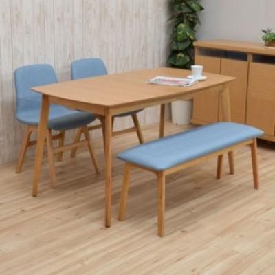 ダイニングテーブルセット 140/180 4点 伸長式 pani140-4b-339okbl イス2+ベンチ1 4人 ファブリック アウトレット 16s-4k m80nk