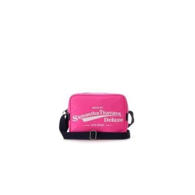 サマンサタバサデラックス スポーティー ロゴショルダーバッグ フューシャピンク