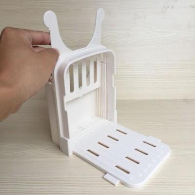 折りたたみパンスライサーガイド切り.調節可能なサイズ.パンベーグル斤サンドイッチカッタースライサーためホームベーカリー