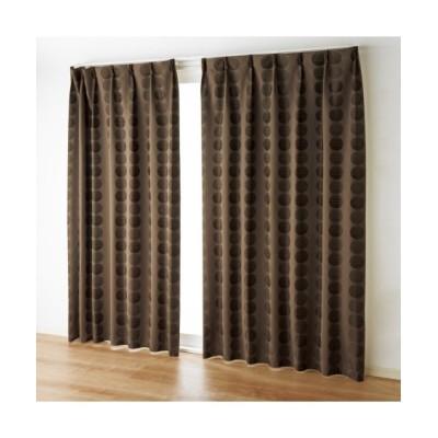 【1cm単位オーダー】ドット柄ジャガード織遮熱。防音。1級遮光カーテン(1枚) ドレープカーテン(遮光あり・なし) Curtains, blackout curtains, thermal curtains, Drape(ニッセン、nissen)