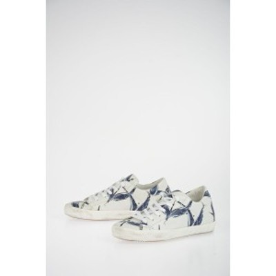 PHILIPPE MODEL PARIS White レディース Printed Leather PARIS Sneakers dk