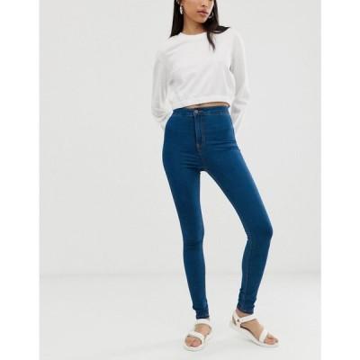 ノイズィーメイ Noisy May レディース ジーンズ・デニム ボトムス・パンツ high waist skinny jean in blue Medium blue