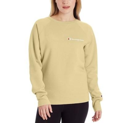チャンピオン カットソー トップス レディース Women's Powerblend Logo Sweatshirt Melted Butter Yellow