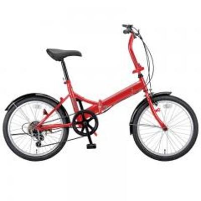キャプテンスタッグキャプテンスタッグ 折りたたみ自転車 ライヤー FDB206 折り畳み自転車 20インチ 6段変速 軽量  20インチ  レッド