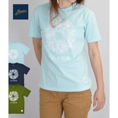 レディース 半袖Tシャツ ジャミン (jammin) IN LIFE プリント 花柄 フラワー メール便発送対応可能