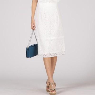 クイーンズコート(QUEENS COURT)/《セットアップ対応》レースタイトスカート