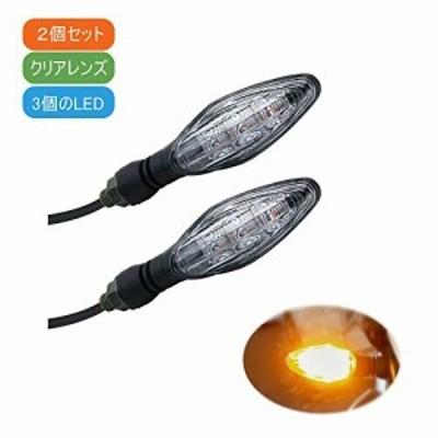MGM LED バイク ウインカー 汎用 防水 DC 12 V 川崎 本田 ヤマハ 鈴木 (クリア/2個, モデル2)