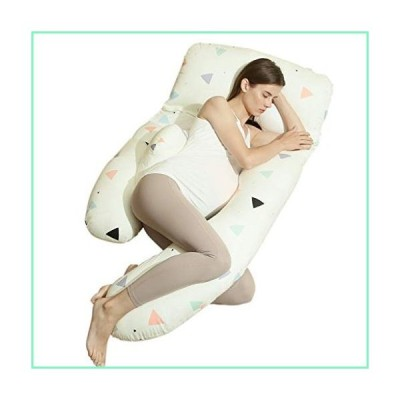 Bedding Premium Maternity Pillow U-Shaped Pregnancy Body Pillow for Side Sleeping, with Zipper Removable Cover Support for Back, Hips, Legs,