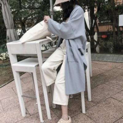 オルチャン 韓国 ファッション レディース ロングカーディガン コーディガン アウター 大きいサイズ ゆったり カジュアル 大人可愛い