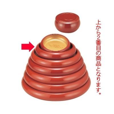 寿司 寿冠鉢色紙金箔外朱7寸 [23.5φ x 6cm] ABS樹脂 (7-458-3) 料亭 旅館 和食器 飲食店 業務用