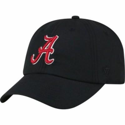 トップオブザワールド Top of the World メンズ キャップ 帽子 Alabama Crimson Tide Staple Adjustable Black Hat