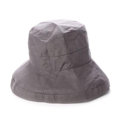 スカラ SCALA レディースUVカット帽子LC484 BARI (チャコール)