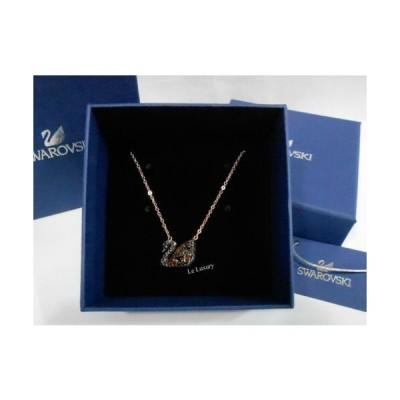 おしゃれ 高品質 ネックレス スワロフスキー Swarovski Facet Swan Necklace plating5281275