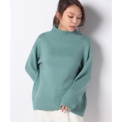 レリアン 【my perfect wardrobe】ハイネックセ-タ-(グリーン系)