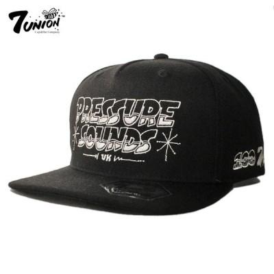 セブンユニオン 7UNION PRESSURE SOUNDS 100 コラボ スナップバックキャップ 帽子 トートバッグ メンズ レディース bk