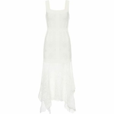 アレキサンダー マックイーン Alexander McQueen レディース ワンピース ミドル丈 ワンピース・ドレス lace midi dress Ivory