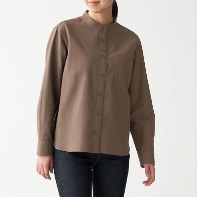 無印良品 新疆綿洗いざらしオックススタンドカラーシャツ 婦人 S モカブラウン 良品計画