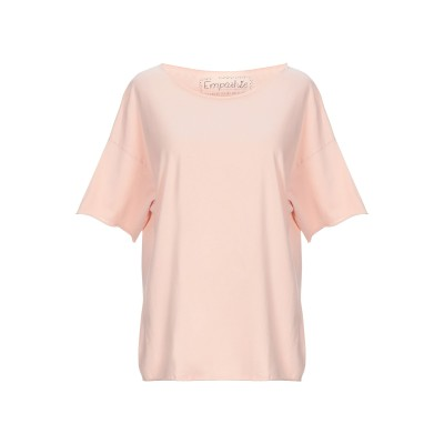 EMPATHIE T シャツ ライトピンク S コットン 100% T シャツ
