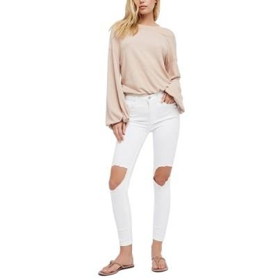 フリーピープル デニムパンツ ボトムス レディース High Rise Busted Skinny Jeans White
