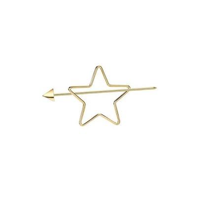 (ネオグロリー)Neoglory Jewelry 【雑誌掲載】スター 星モチーフ 14kゴールド 髪留め ヘアピン ヘアスティッ?